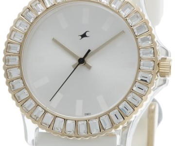 Hip Hop Analog White Dial Fastrack Watch for Women – Rs 1120