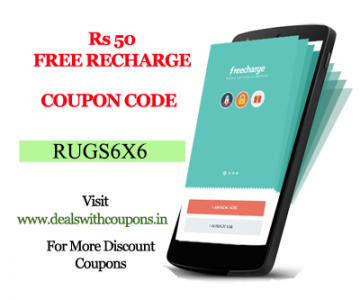 Get Rs.50 Cashback on your first transaction on FreeCharge