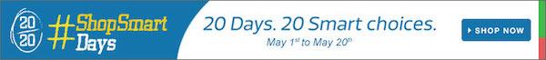 20/20 #ShopSmart Days - 20 Days. 20 Smart Choices