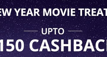 Get Upto Rs. 150 Cashback on Movie Tickets in Paytm